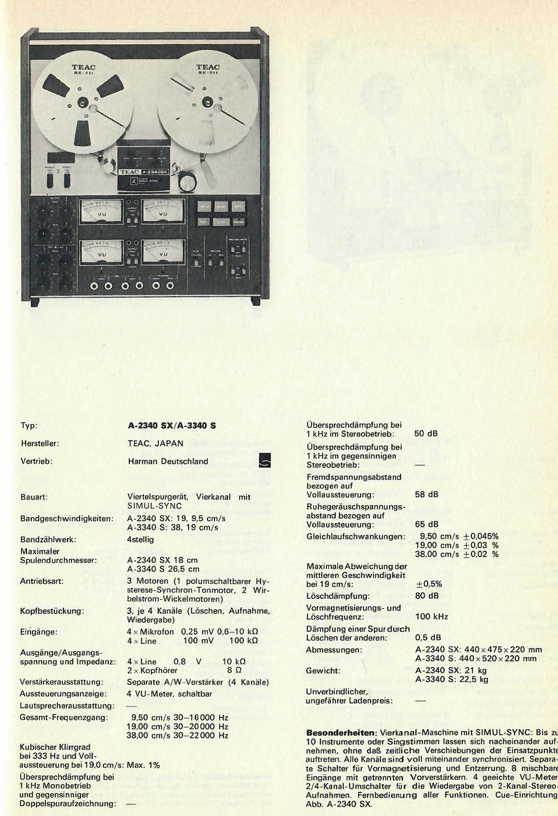 teac a-2340sx manual thread tape how to
